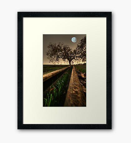 Moon Tracks Framed Print