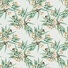Eucalyptus Peach and Vintage Green by ThistleandFox