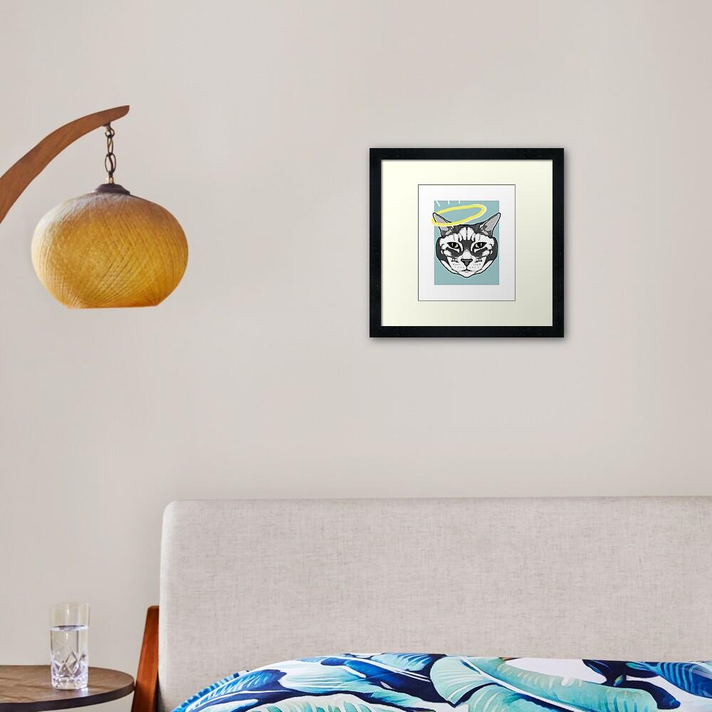 Meower Framed Art Print