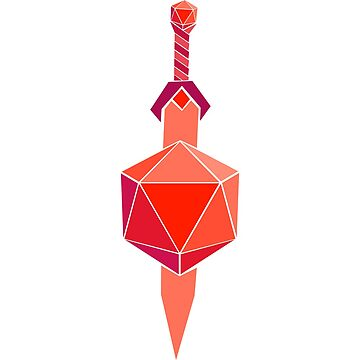 RED D20 with sword by NoahThePixal
