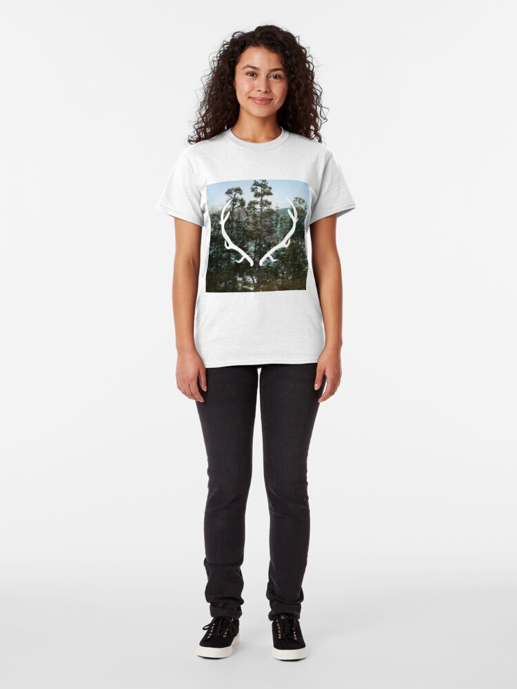 Alternate view of Antlers Classic T-Shirt