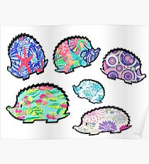 Crazy HedgeHog/Porcupine Pandamonium Pack of 6 Poster