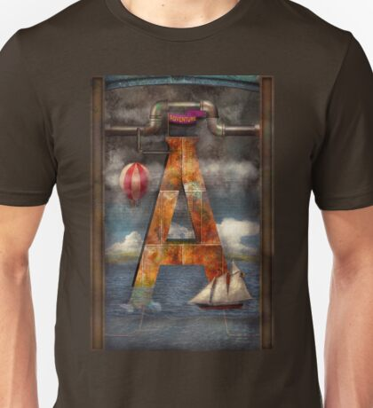 Steampunk - Alphabet - A is for Adventure Unisex T-Shirt
