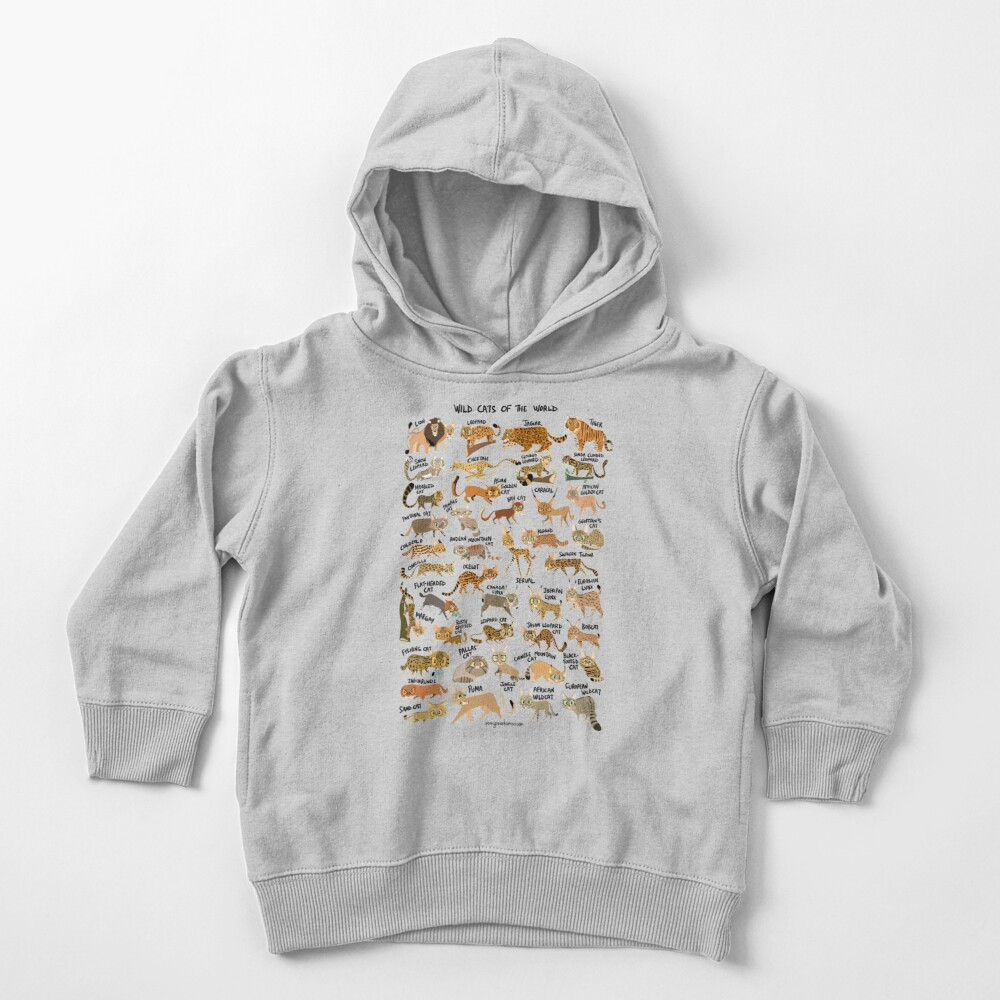 Wild Cats of the World Toddler Pullover Hoodie