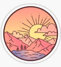 Sunset Mountains Sticker