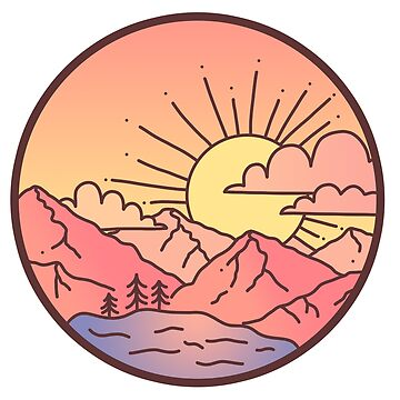 Sunset Mountains by hellobubblegum
