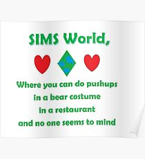 SIMS WORLD Poster