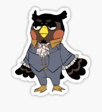 mad owl Sticker