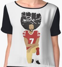Colin Kaepernick Kneeling - I'm With Kap Chiffon Top