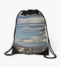 Lenticular Cloud Show Drawstring Bag