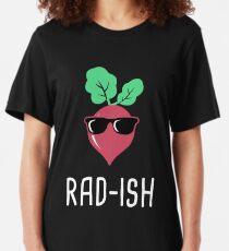 Rad-Ish   Radish Farmer's Market Design Slim Fit T-Shirt