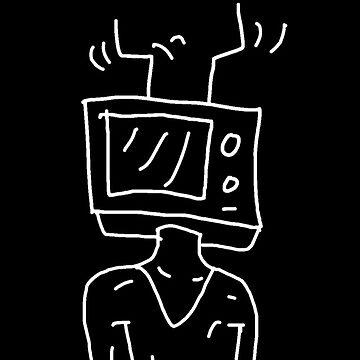 TV Head // Line Art by Allison-Daniel