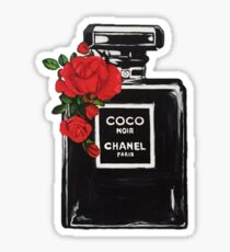 Perfume Bottle Flowers Sticker
