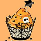 Spiderweb Cupcake by prouddaydreamer