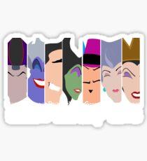 The Seven Deadly Villains  Sticker