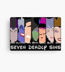 The Seven Deadly Villains  Canvas Print