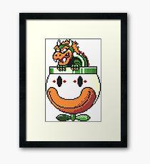 Super Mario World SNES Bowser Koopa Super Nintendo 16-Bit Framed Print