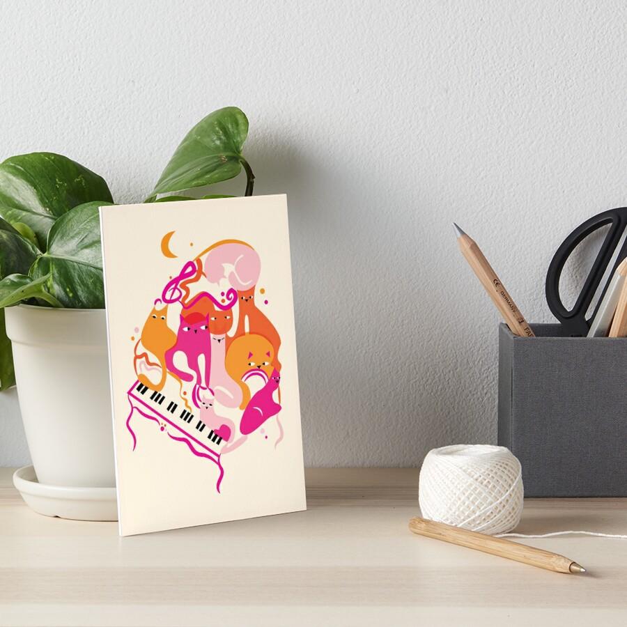 Jazz Cats Art Board Print