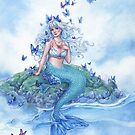Blue Morpho Butterfly Mermaid by Meredith Dillman
