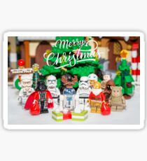 Merry Xmas Star Wars Group Photo Sticker