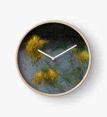 backyard flowers Clock