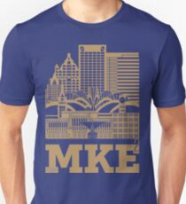 """Milwaukee Squared"" Skyline BREWERS GOLD T-Shirt"