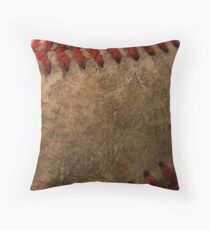 Cowhide & Red Throw Pillow