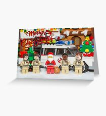 Santa and the Ghostbusters Greeting Card