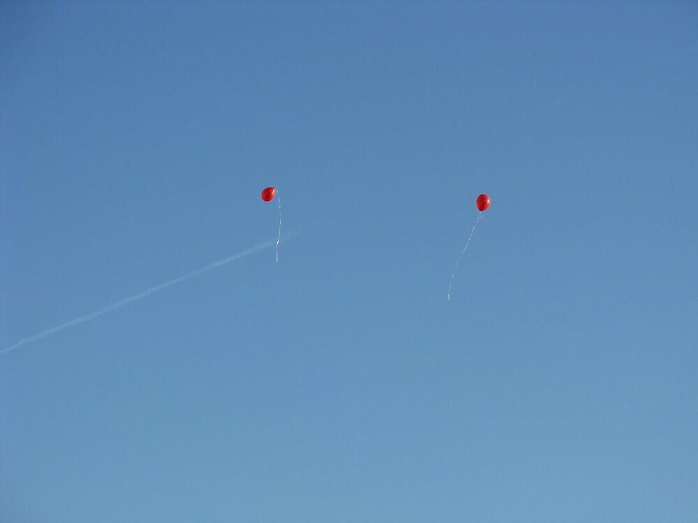 2 Red Balloons by karadubois