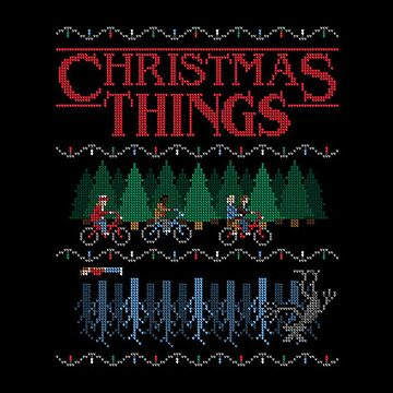 Stranger Things - Ugly Christmas Sweater Style by miramakesmovies