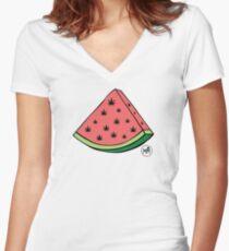 Weedmelon Fitted V-Neck T-Shirt