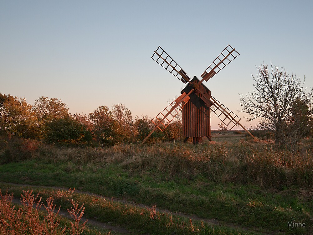 Mill on Öland, Sweden. by Minne