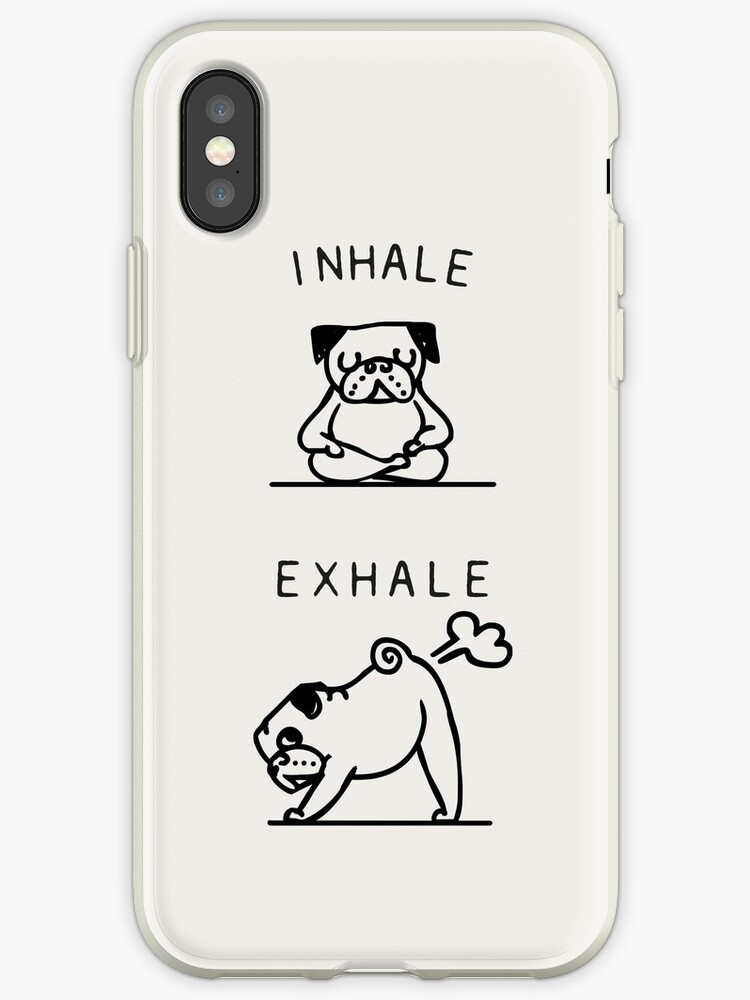 quality design 3466d 06e9b 'Inhale Exhale Pug' iPhone Case by Huebucket