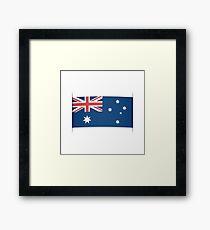 Flag of Australia. Element for infographics. Framed Print