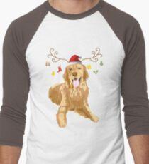 Golden Retriever Ugly Xmas Sweater Antler Dog Lover T-Shirt