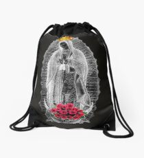 Guadalupe Virgin Mary Our Lady of Mexico Tilma Juan Diego 05 Drawstring Bag