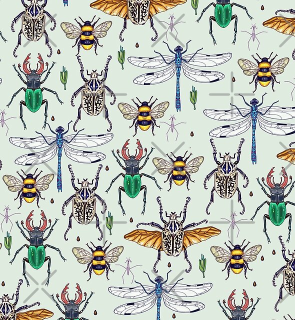 lucky insects pattern by smalldrawing