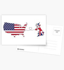 USA - UK | Long Distance Love Postcards