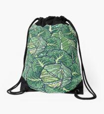 dreaming cabbages Drawstring Bag