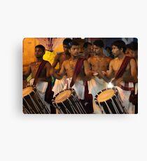 Drumming. Canvas Print