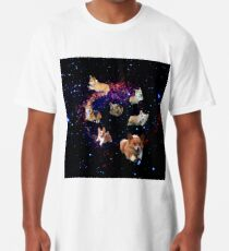 Camiseta larga Space Corgis