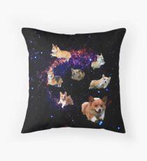 Space Corgis Throw Pillow