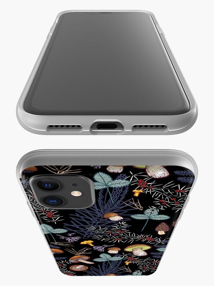 Alternate view of dark wild forest mushrooms iPhone Case & Cover