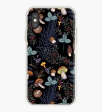 dark wild forest mushrooms iPhone Case