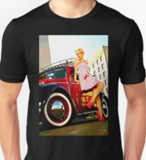 Classic car & Pin 50's up Unisex T-Shirt