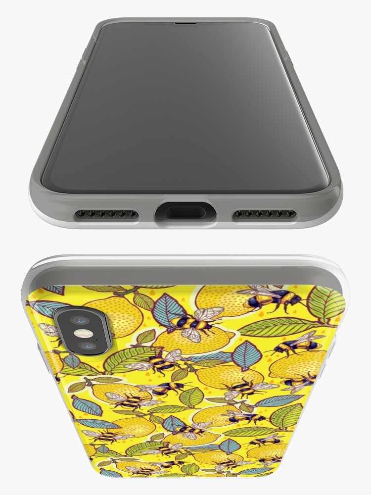 Alternate view of Yellow lemon and bee garden. iPhone Cases & Covers