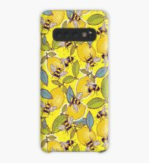 Yellow lemon and bee garden. Case/Skin for Samsung Galaxy