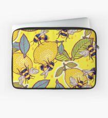 Yellow lemon and bee garden. Laptop Sleeve