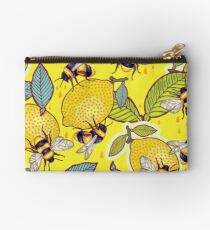 Yellow lemon and bee garden. Studio Pouch