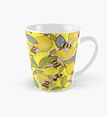 Yellow lemon and bee garden. Tall Mug
